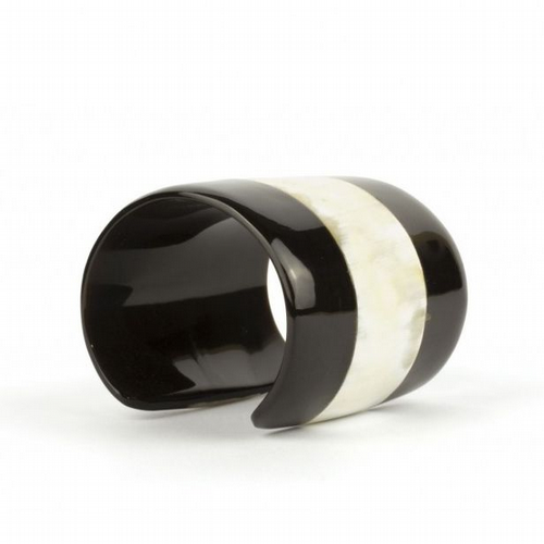 Blond and Black Horn Large Cuff